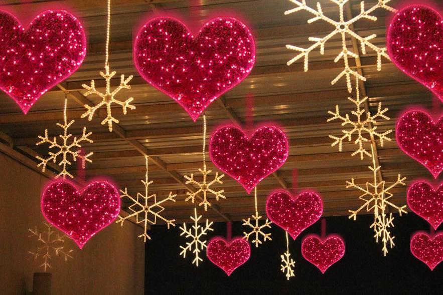 sevgililer günü ışık süslemeleri
