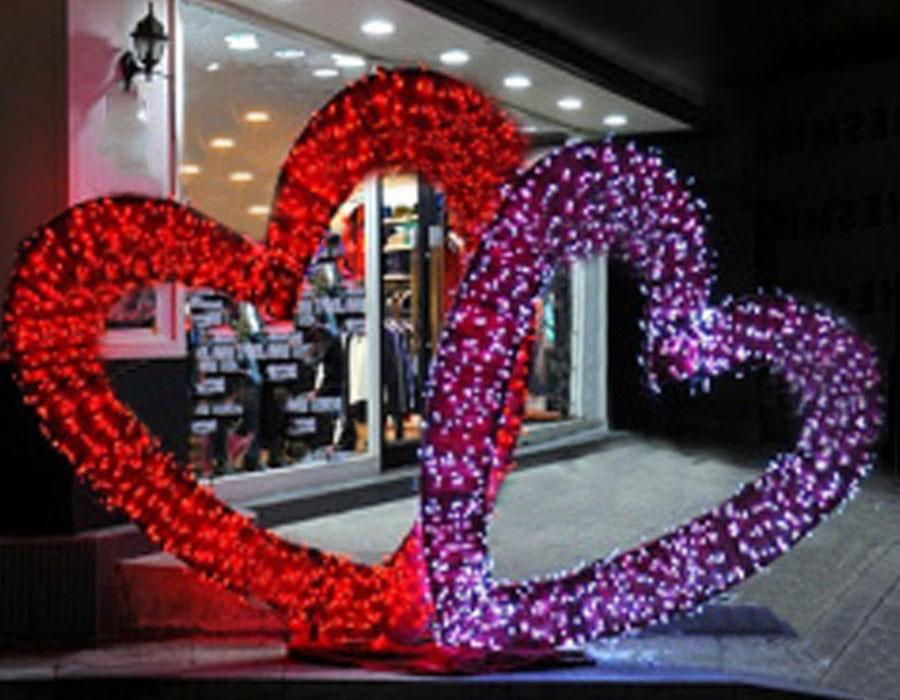 Sevgililer Günü Mağaza Süsleme,