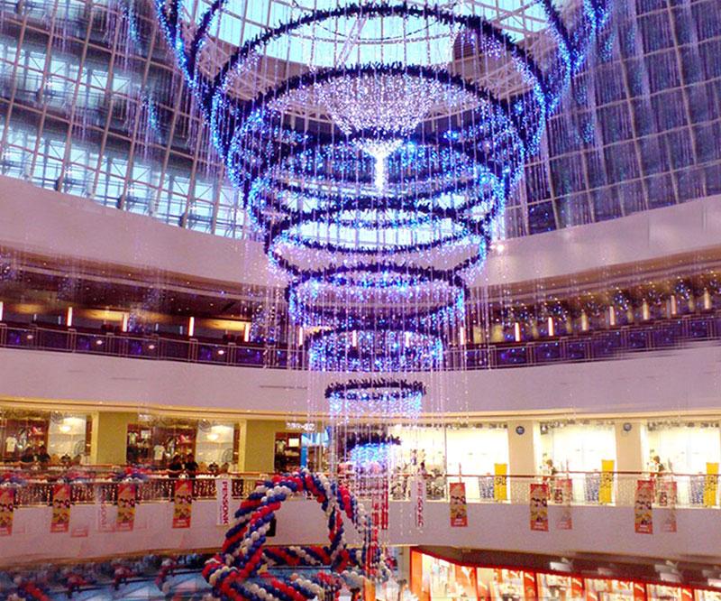 Yılbaşı Alışveriş Merkezi Işık Süsleme