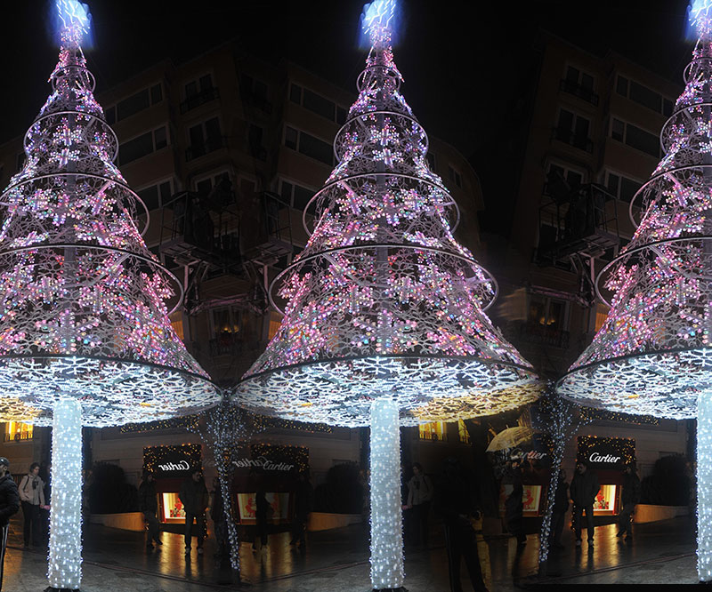 Yılbaşı Işıklı Yapan çam Ağacı