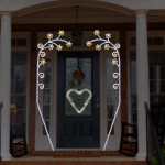 Sevgililer Günü Işıklı Kapı Süsleme
