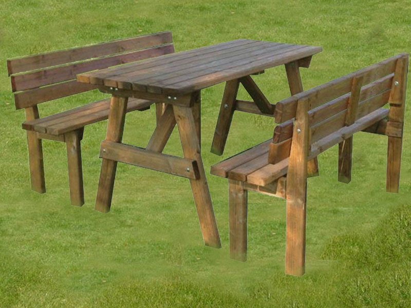 AHŞAP PİKNİK MASASI SIRT DAYAMALI İMALATI VE KİRALAMASI, Garden Mobilya NaturelAhşap Piknik Masası Sırt Dayamalı İmalatı ve Kiralaması.